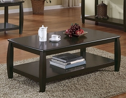 BOWED RICH CAPPUCCINO COFFEE TABLE