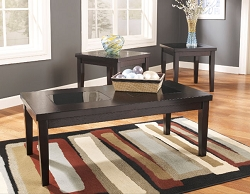 DENJA 3 PACK COFFEE AND END TABLES SET
