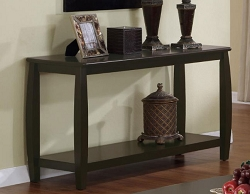 BOWED RICH CAPPUCCINO CONSOLE TABLE
