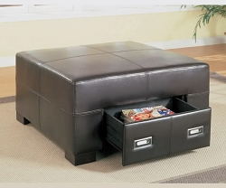 SPENCER SQUARE WITH DRAWERS OTTOMAN