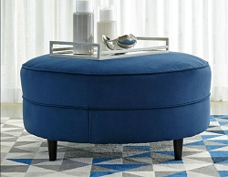 ENDERLIN INK OVER SIZED ROUND OTTOMAN