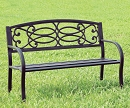 POTTER STEEL OUTDOOR PARK BENCH