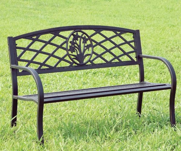 Minot Steel Outdoor Park Bench