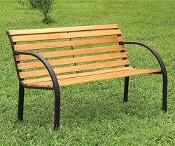 DUMAS NATURAL OAK FINISH OUTDOOR PARK BENCH