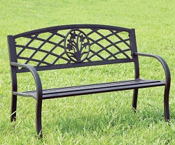 MINOT STEEL OUTDOOR PARK BENCH