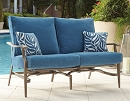PARTANNA CUSHIONED MOTION PATIO LOVESEAT SET