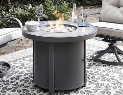 DONNALEE BAY CONTEMPORARY ROUND FIRE PIT TABLE