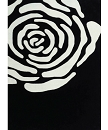 TRANSITIONAL HAND TUFTED BLACK FLORAL AREA RUG