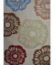 TRANSITIONAL HAND TUFTED BEIGE FLORAL II AREA RUG