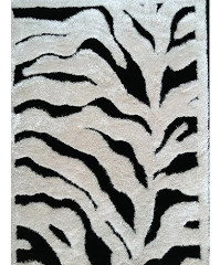 VISCOSE SHAGGY DESIGN ZEBRA AREA RUG