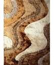 VISCOSE SHAGGY DESIGN 29 BEIGE AREA RUG