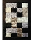 VISCOSE SHAGGY DESIGN 30 BLACK AREA RUG