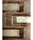 VISCOSE SHAGGY DESIGN 35 BEIGE AREA RUG
