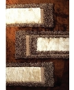 VISCOSE SHAGGY DESIGN 35 BROWN AREA RUG