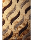 VISCOSE SHAGGY DESIGN 40 BROWN AREA RUG