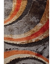 VISCOSE SHAGGY DESIGN 55 BROWN ORANGE AREA RUG