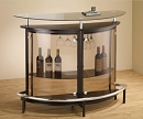 BLACK  MODERN TEMPER GLASS BAR UNIT