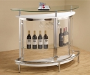 WHITE MODERN GLASS BAR UNIT
