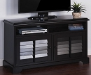 VINTAGE BLACK  WOOD TV CONSOLE