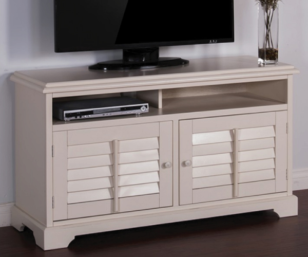 vintage white wood tv console. Black Bedroom Furniture Sets. Home Design Ideas