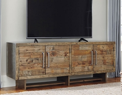 MOZANBURG RUSTIC INDUSTRIAL RECLAIMED WOOD 72 INCHES TV CONSOLE