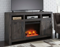 MAYFLYN CHARCOAL 62 INCHES TV STAND WITH FIREPLACE OPTION