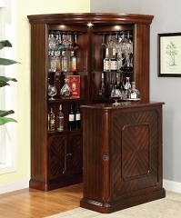 VOLTAIRE CHERRY BROWN CURIO WINE CABINET