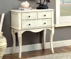 SIAN ANTIQUE WHITE ACCENT HALLWAY CABINET
