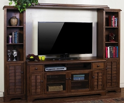 SAVANNAH WOOD ENTERTAINMENT WALL UNIT