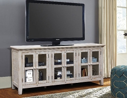 ATHENA ANTIQUE WHITE 70 INCHES TV STAND SERVER
