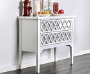 NALA WHITE HALL WAY CABINET WITH ACRYLIC ACCENT