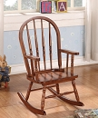 KLORIS TOBACCO FINISH TODDLER ROCKING CHAIR