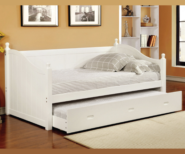Walcott White Complete Solid Wood Daybed With Trundle