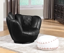 ALL STAR SWIVEL BASEBALL PU CHAIR AND OTTOMAN SET
