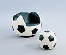 ALL STAR SWIVEL SOCCER PU CHAIR AND OTTOMAN SET