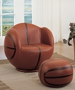 ALL STAR SWIVEL BASKETBALL PU CHAIR AND OTTOMAN SET