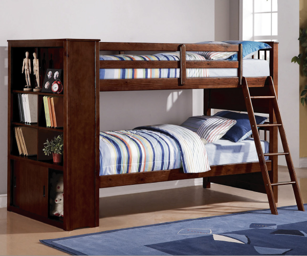dakota twin twin bunk bed with book shelves. Black Bedroom Furniture Sets. Home Design Ideas