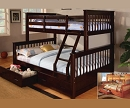 LOWE TWIN FULL BUNK BED WITH STORAGE DRAWERS