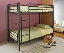 HALL BASIC BLACK  TWIN TWIN METAL BUNK BED
