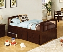 CABALLERO SOLID WOOD CAPTAIN BED WITH STORAGE DRAWERS