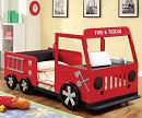RESCUER FIRE TRUCK METAL TWIN BED
