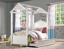 RAPUNZEL PRINCESS COTTAGE WHITE BED