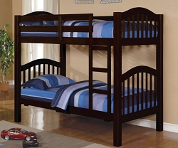 HEARTLAND ESPRESSO FINISH TWIN TWIN BUNK BED