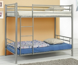 HALL BASIC SILVER  METAL BUNK BED