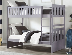 ORION GRAY FINISH SOLID WOOD BUNK BED