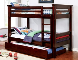 MARCIE DARK WALNUT SOLID WOOD BUNK BED