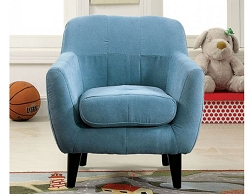HEIDI BLUE MICROFIBER TODDLER CHAIR