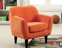 HEIDI ORANGE MICROFIBER TODDLER CHAIR