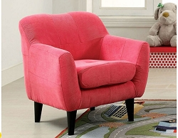 HEIDI PINK MICROFIBER TODDLER CHAIR