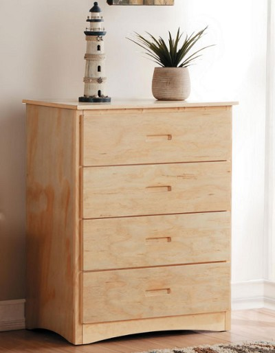 BARTLY NATURAL PINE 4 DRAWERS CHEST